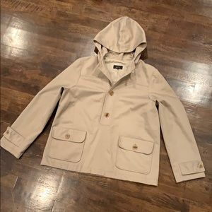 A.P.C. Pullover Lined Hooded Jacket Button Front